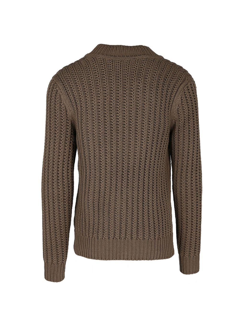 Dunhill Knit V-Neck Silk Sweater
