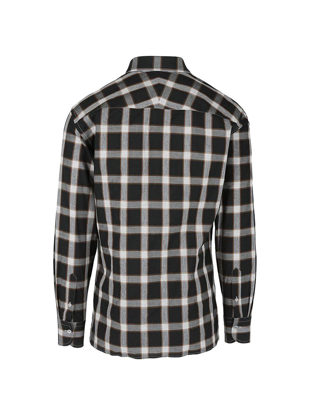 Dunhill Plaid Woven Button-Up Shirt