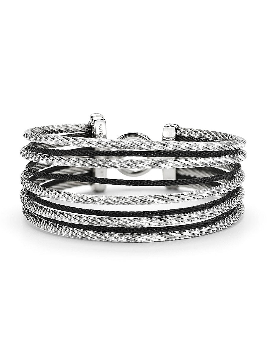 Women's Two-Tone Stainless Steel Bangle