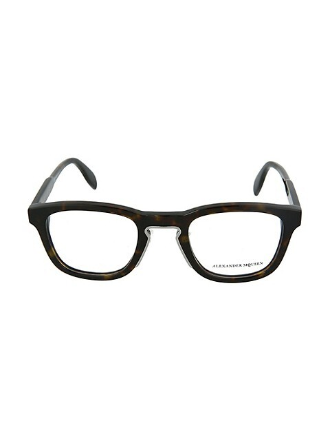 Alexander McQueen 50MM Square Optical Glasses