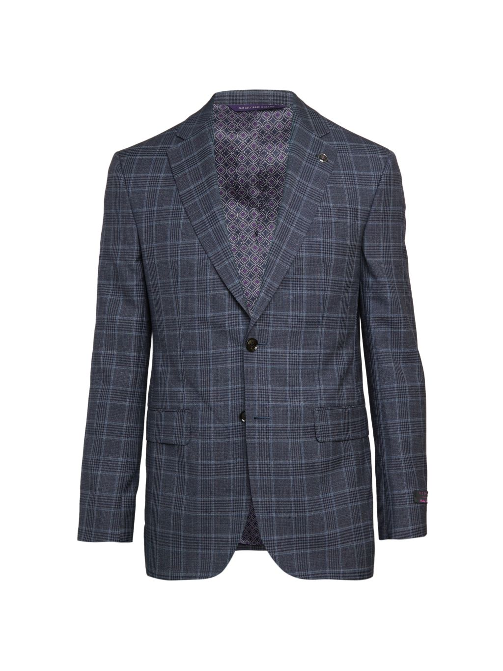 Ted Baker Jay Modern-Fit Plaid Wool Jacket