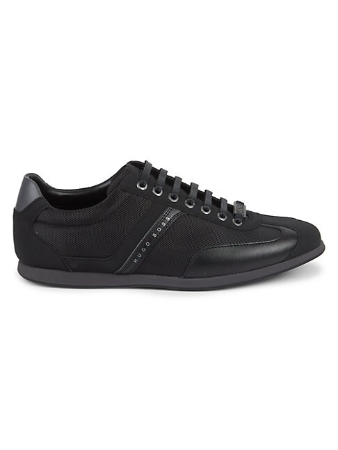 Hugo Boss PERFORATED MIXED-MEDIA SNEAKERS