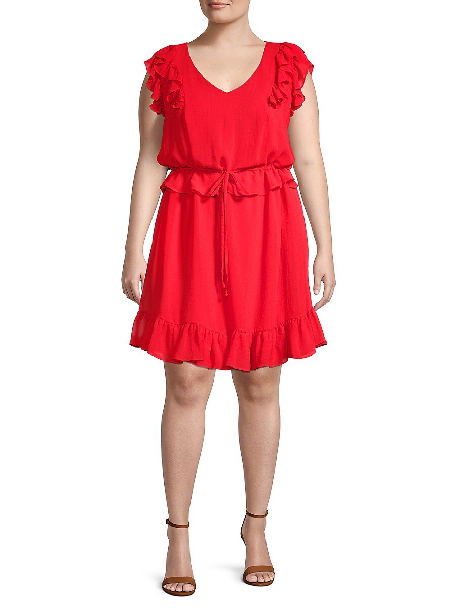 Women's Plus Ruffled Dress
