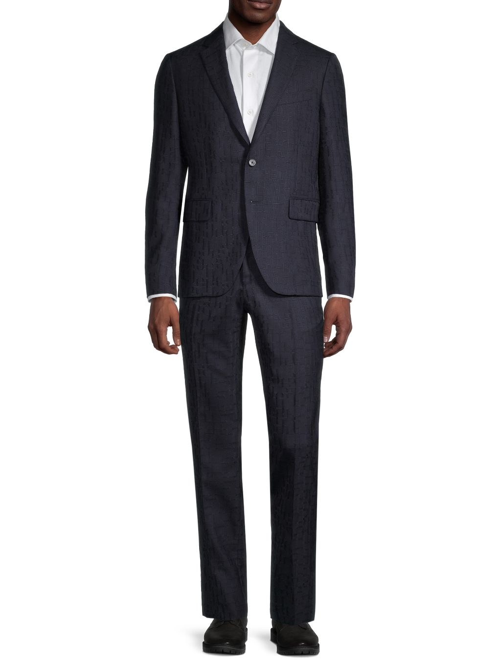 Versace Collection Modern-Fit Geometric Stretch-Wool Suit