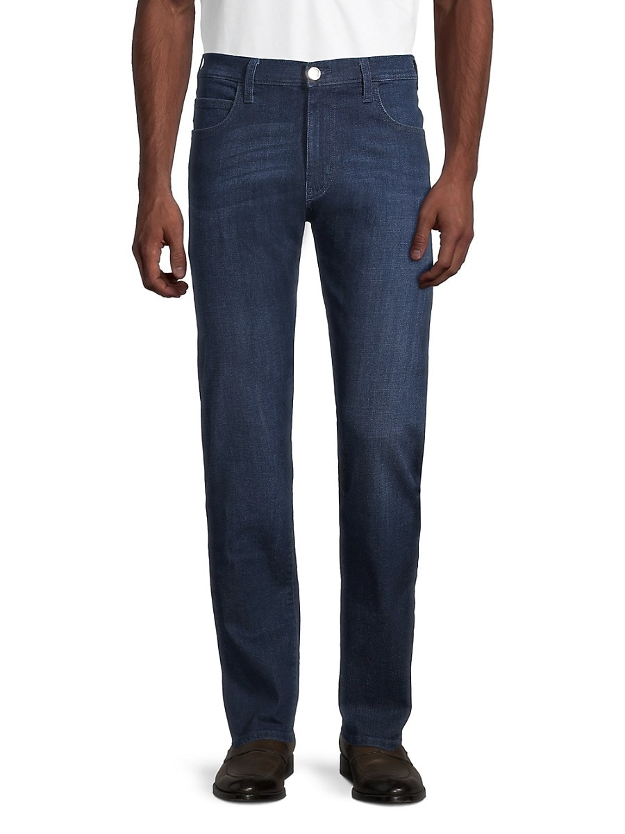 Men's 5-Pocket Logo Patch Jeans