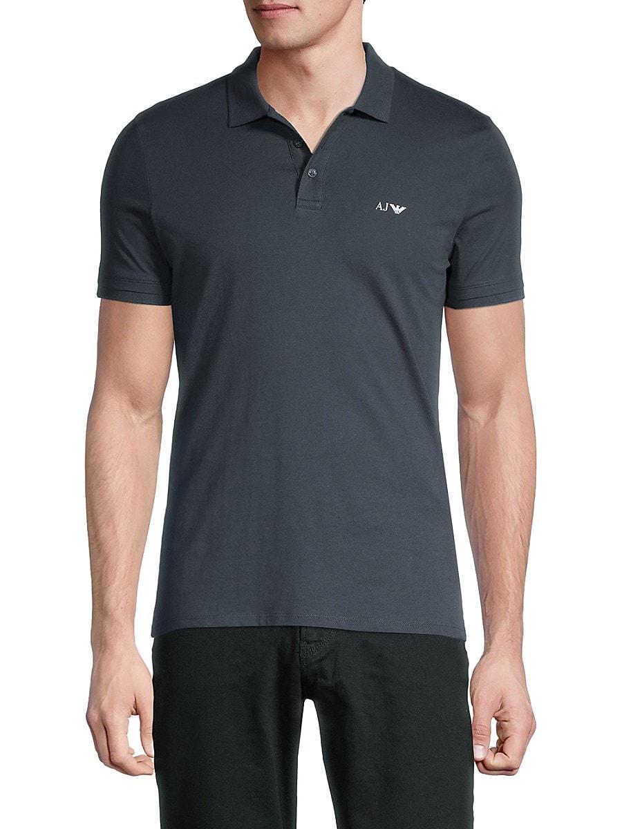 Men's Short-Sleeve Stretch-Cotton Polo