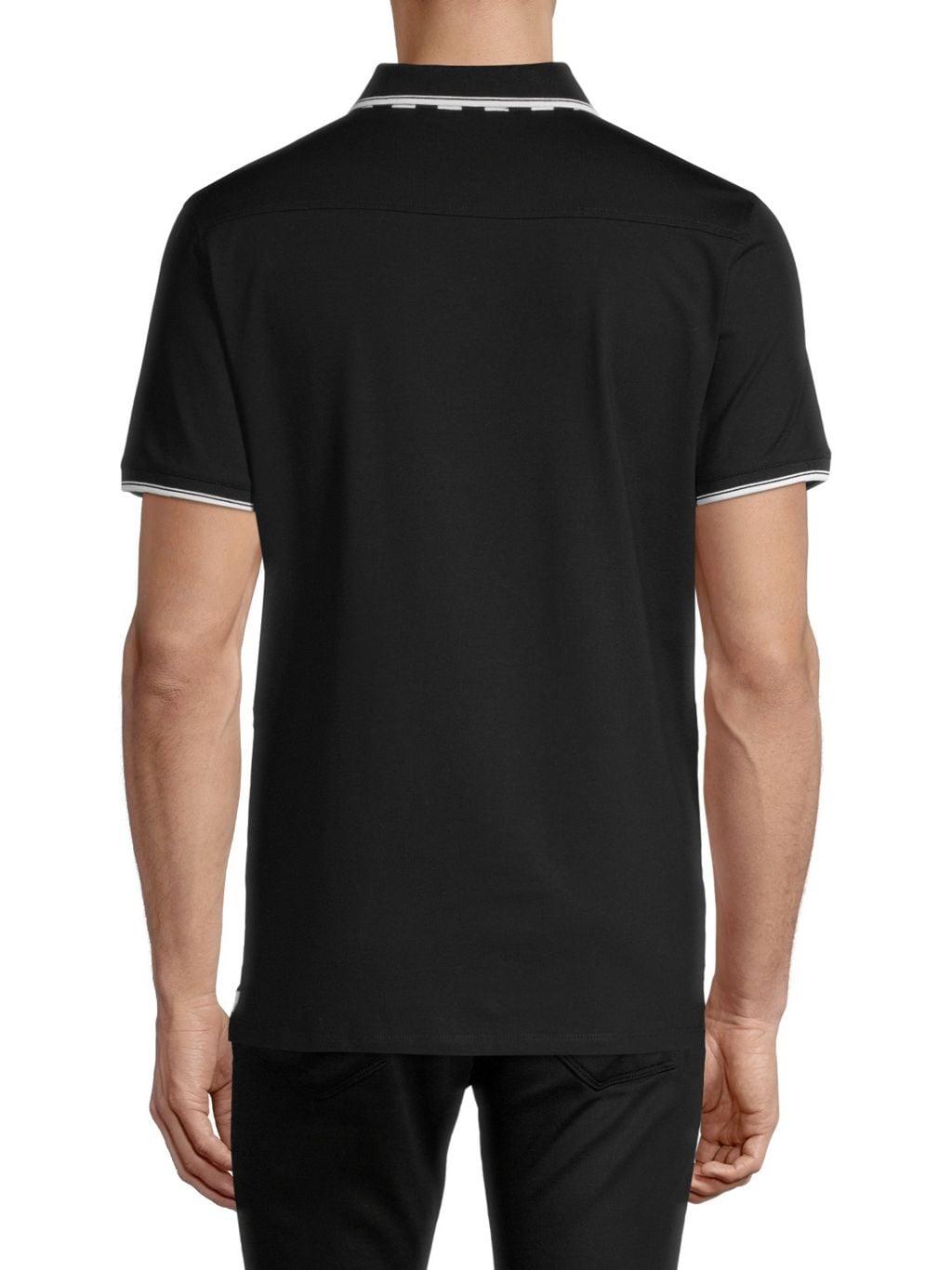 Karl Lagerfeld Paris Striped Knit Button Down Shirt