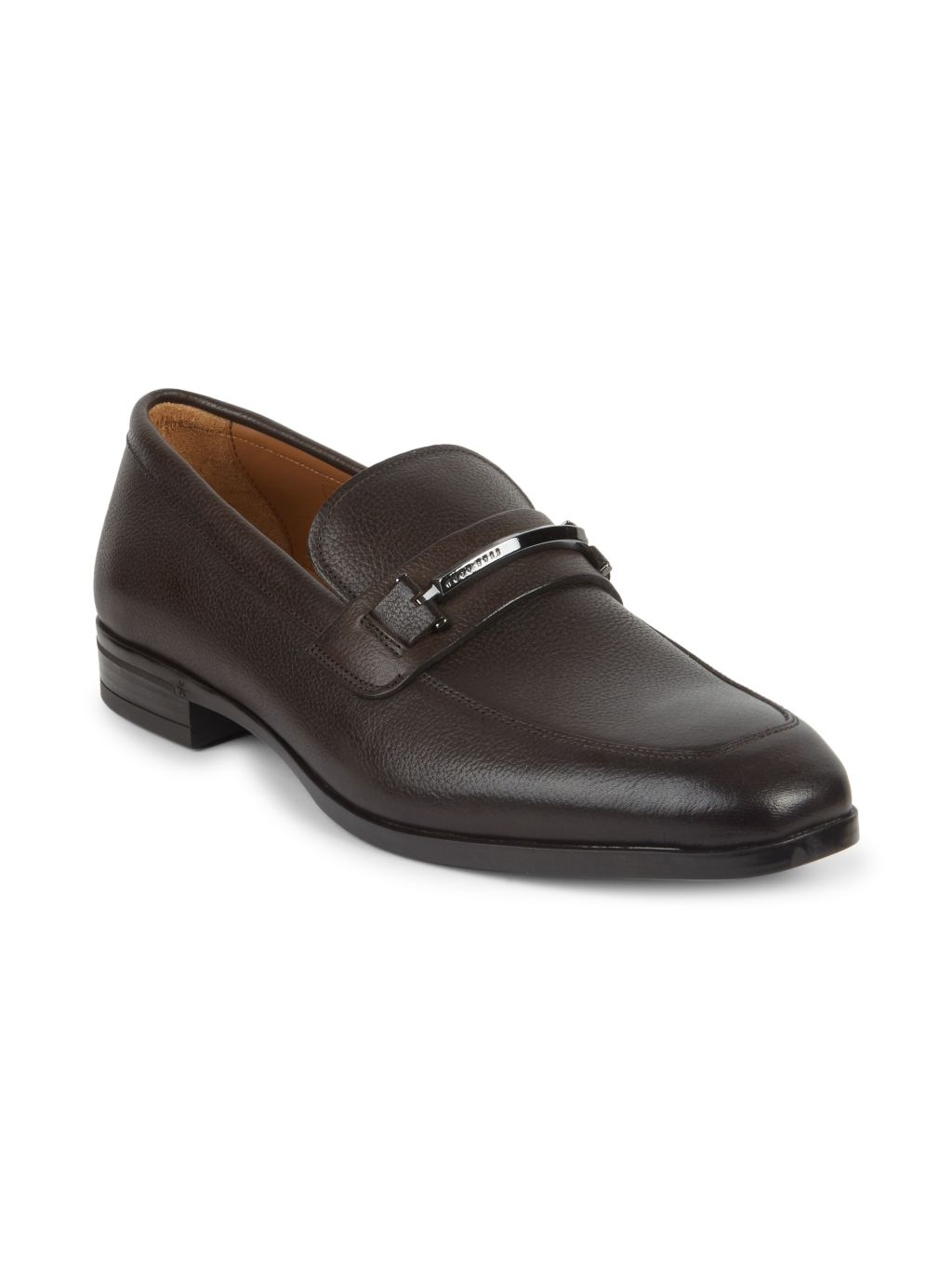 Boss Hugo Boss Portland Pebbled Leather Loafers