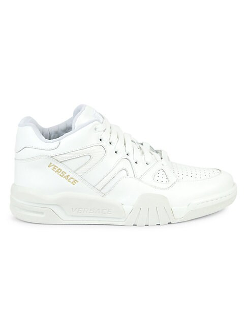Versace LEATHER MID-TOP SNEAKERS
