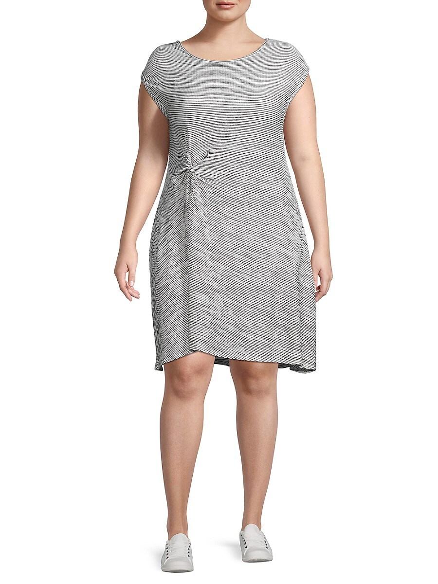 Women's Plus Striped Jersey Dress
