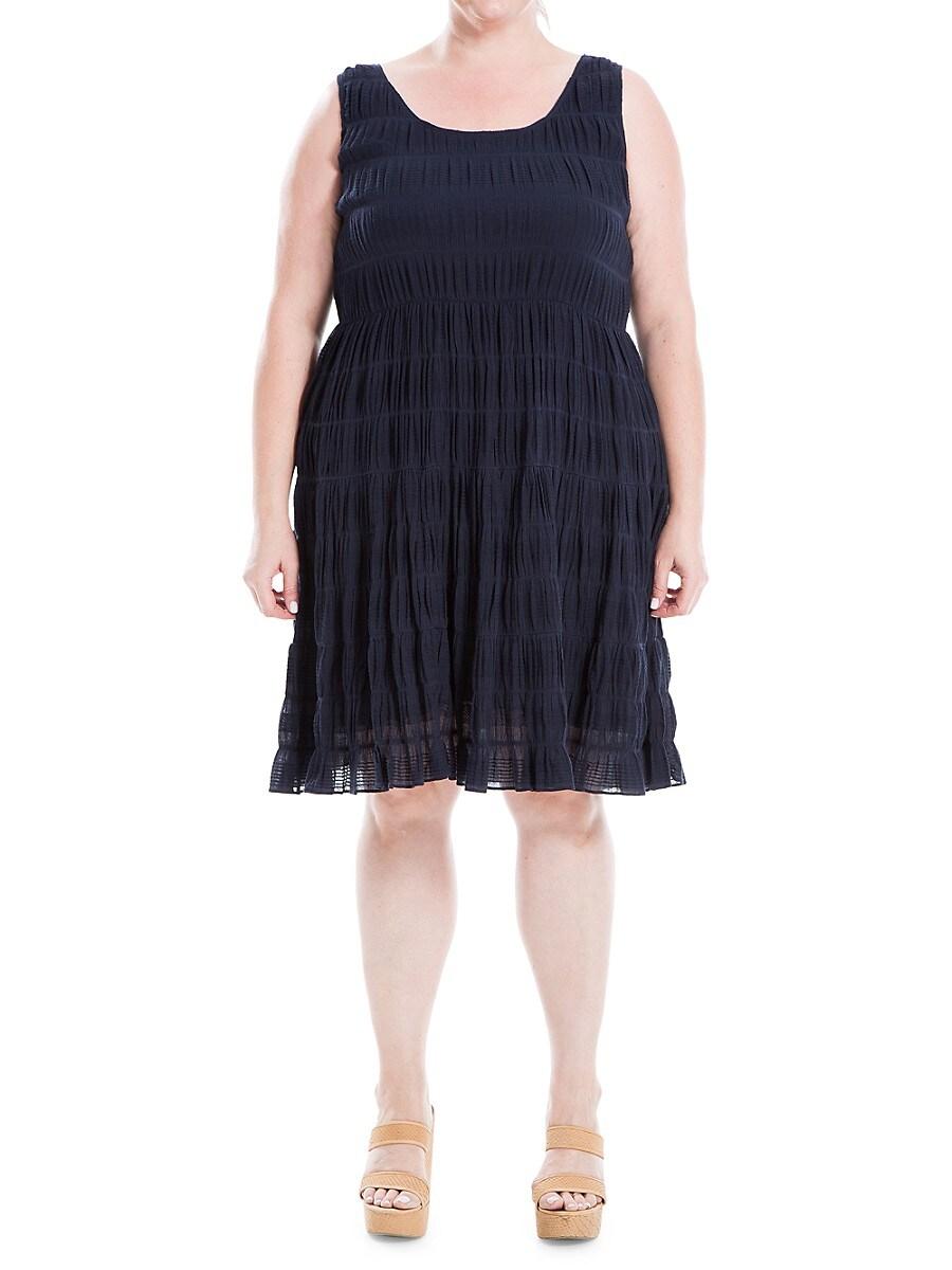 Women's Smocked Stretch-Cotton Dress