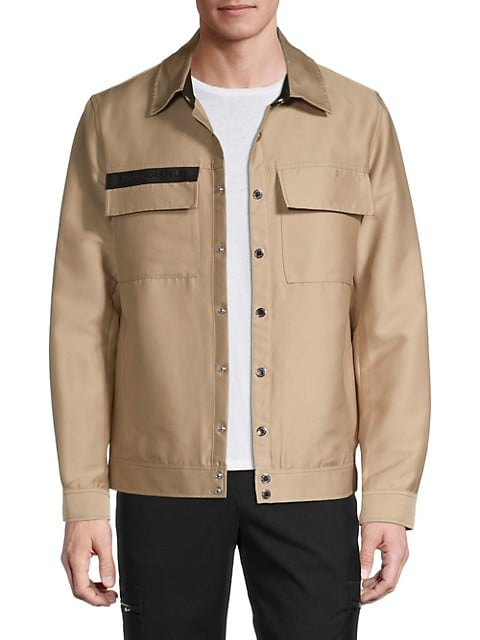 Logo Cotton-Blend Jacket