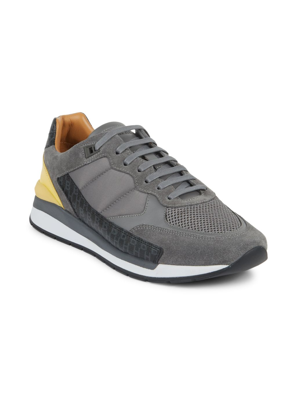 Boss Hugo Boss Element Mix Media Leather Low-Top Sneakers