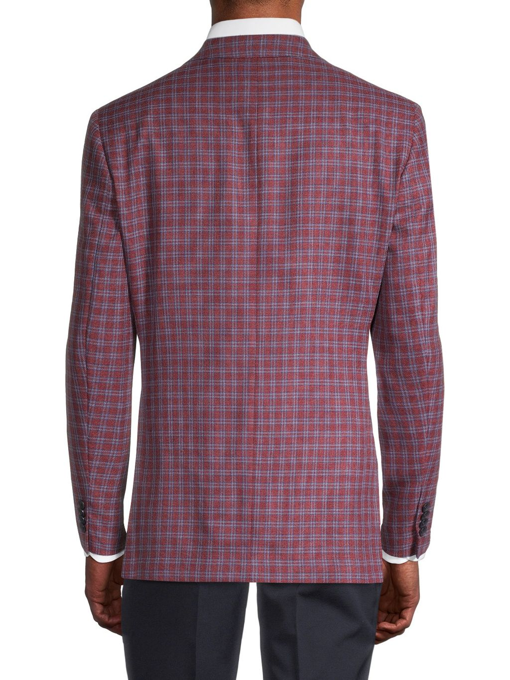 Saks Fifth Avenue Conway Standard-Fit Wool & Silk Check Sports Jacket