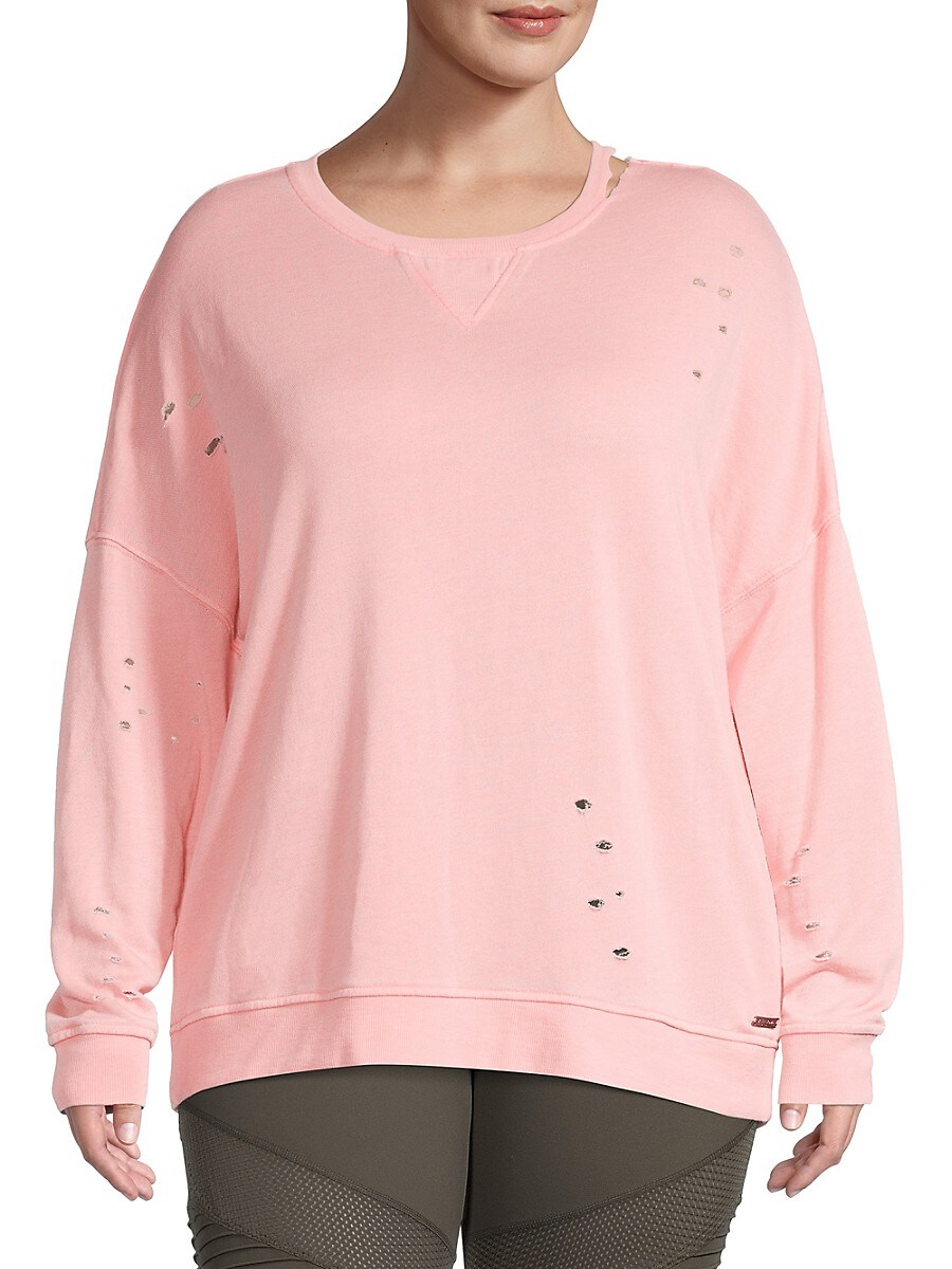 Women's Distressed Pullover Sweater