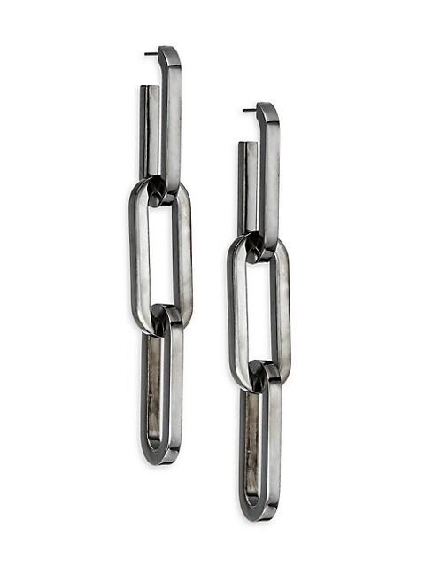 Burberry Link Chain Drop Earrings