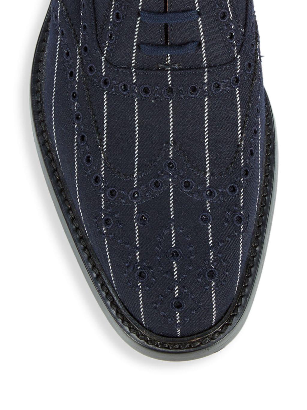 Burberry Lennard Tailor Textile Pinstripe Oxfords