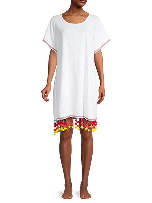 Pitusa COTTON-BLEND COVERUP DRESS