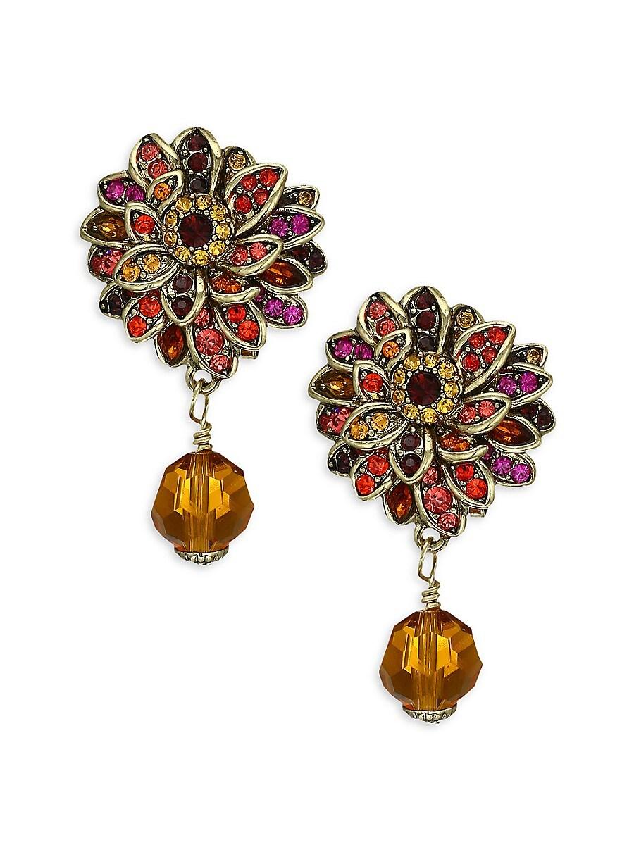 Women's Crystal Fall Flower Drop Earrings