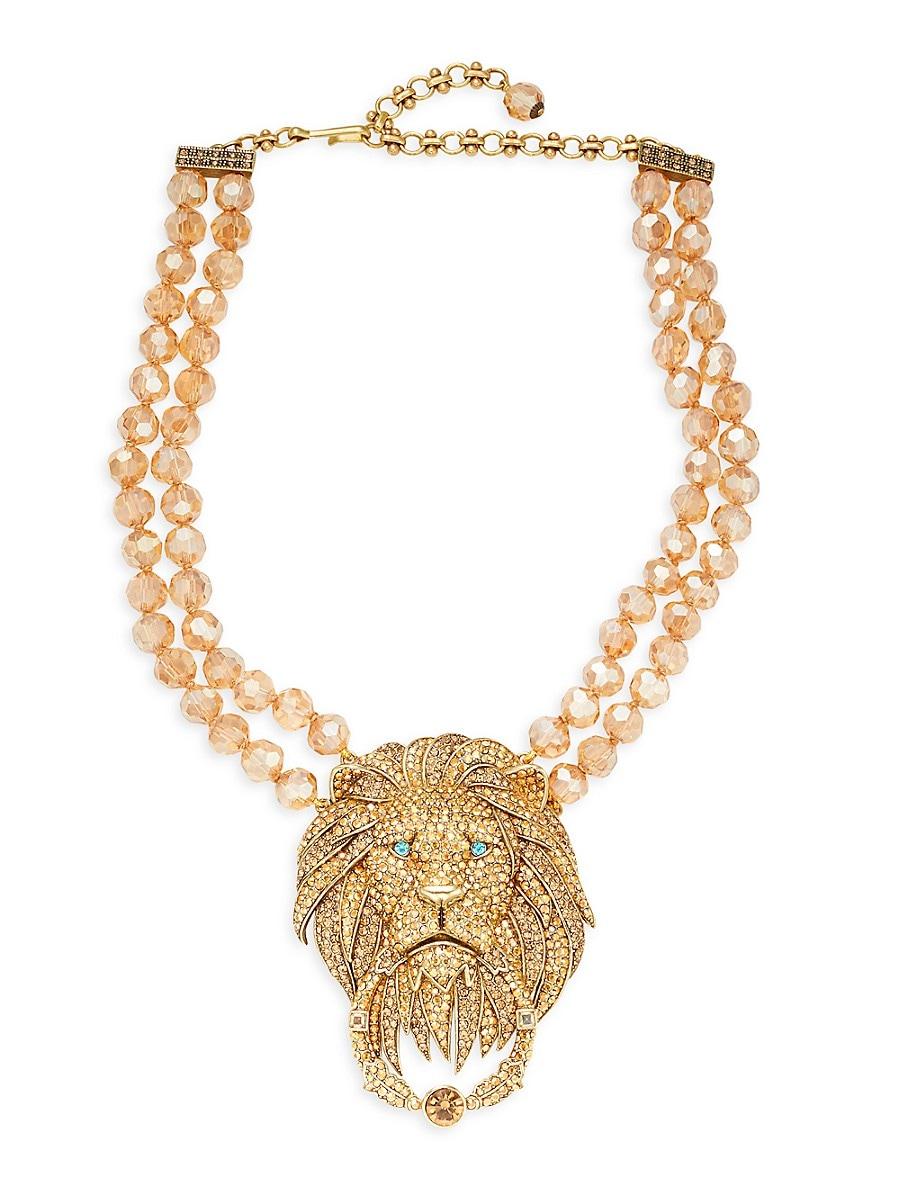 Women's Goldtone & Crystal Rhinestone Lion Door-Knocker Necklace
