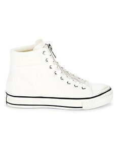 아쉬 하이탑 스니커즈 ASH Grant Zippered High-Top Sneakers,WHITE