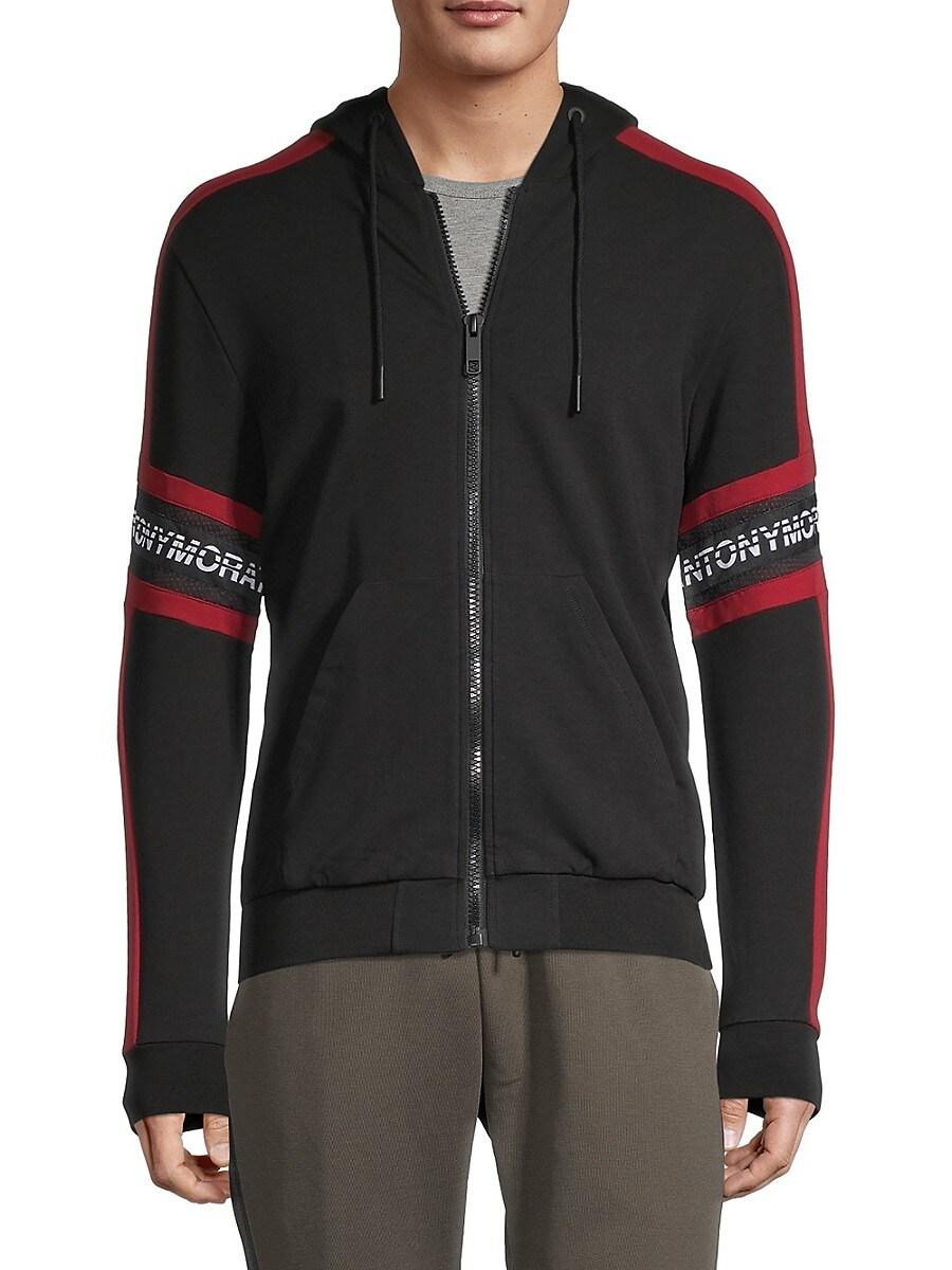 Antony Morato Men's Zip-Front Hoodie - Black - Size S