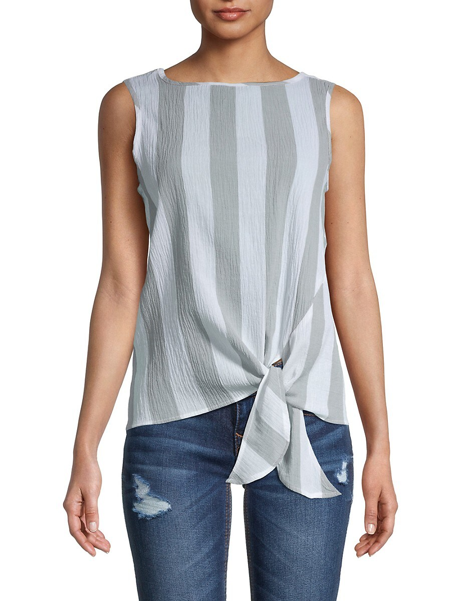 Beach Lunch Lounge Women's Bobbi Crinkled Cotton Side-Tie Top
