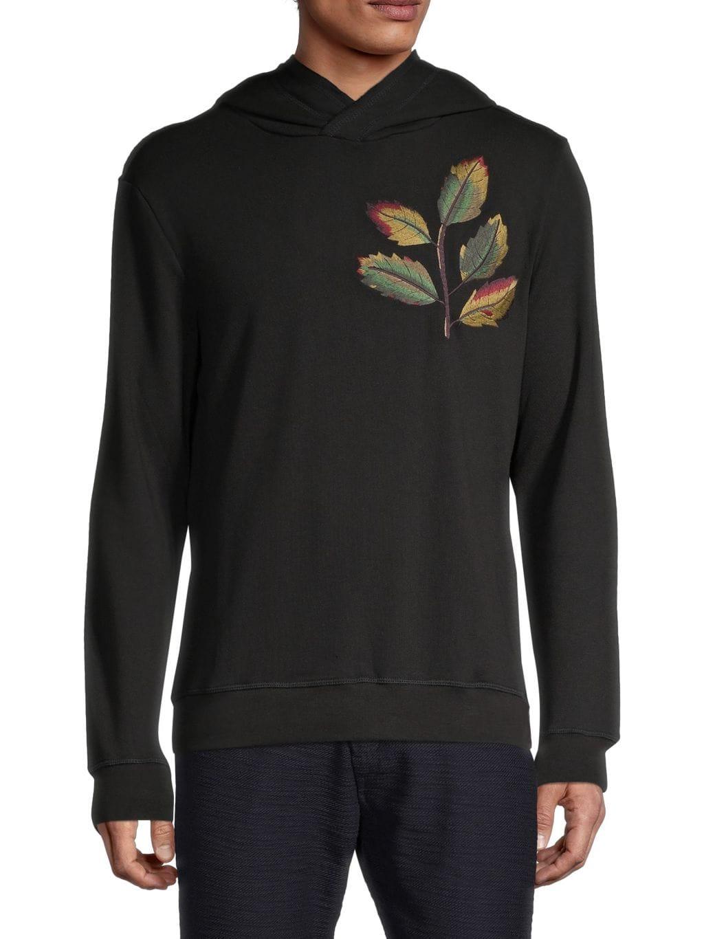 Antony Morato Leaf Embroidery Fleece Hoodie