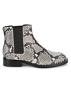 아쉬 부츠 ASH Snake-Print Leather Chelsea Boots,ROCCIA