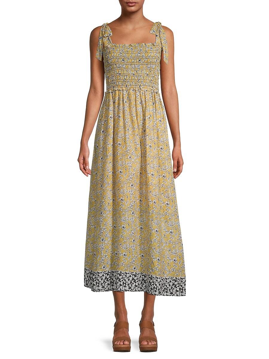 Women's Floral Smocked Dress