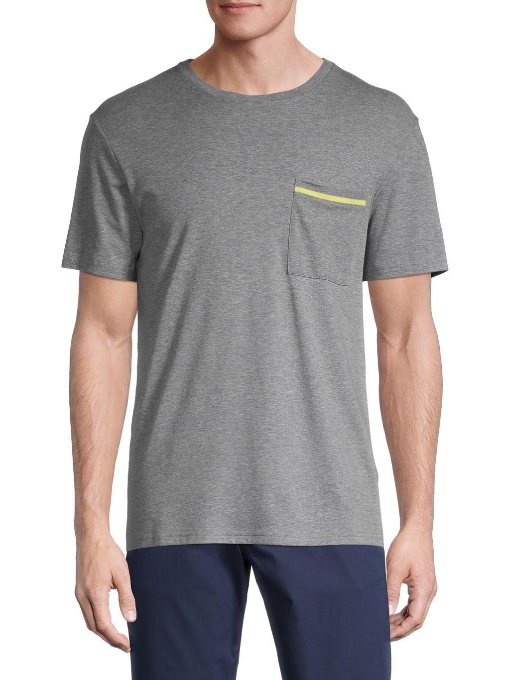 Theory Striped Pocket T-Shirt