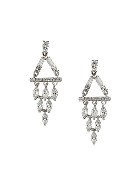 Adriana Orsini Bouquet Cubic Zirconia Chandelier Earrings