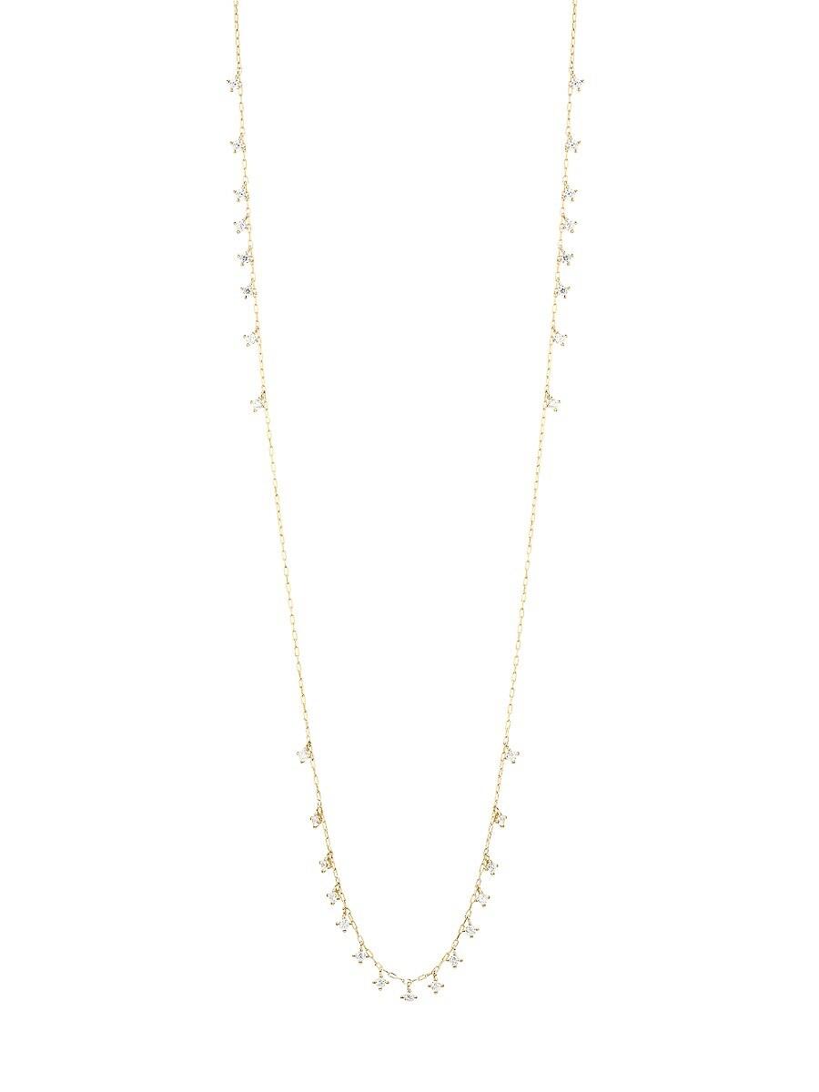 Women's Issa Goldtone & Cubic Zirconia Necklace