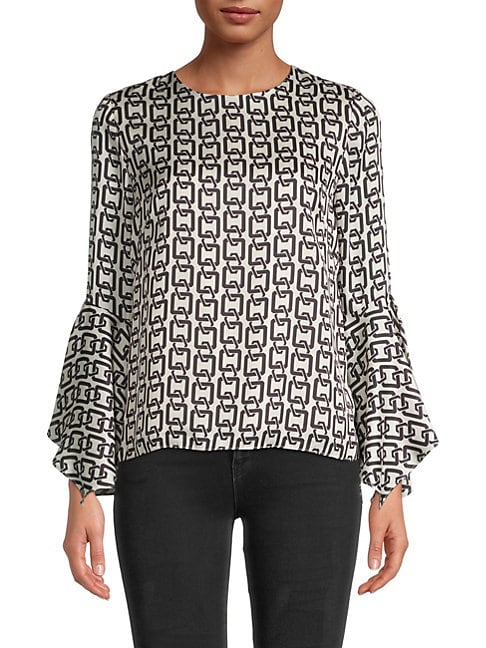 Milly Geometric Print Top