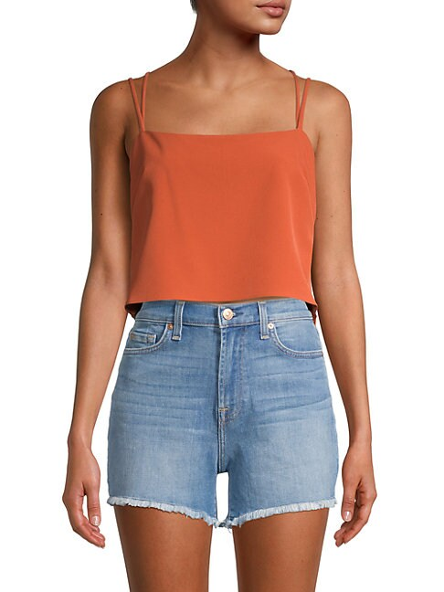 Milly Double Strap Cropped Top
