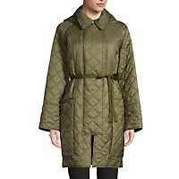 Deals on Burberry Womens Coleraine Oversized Belted Quilted Coat