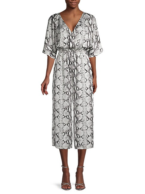 Bb Dakota LINES IN THE SUN SNAKESKIN-PRINT JUMPSUIT
