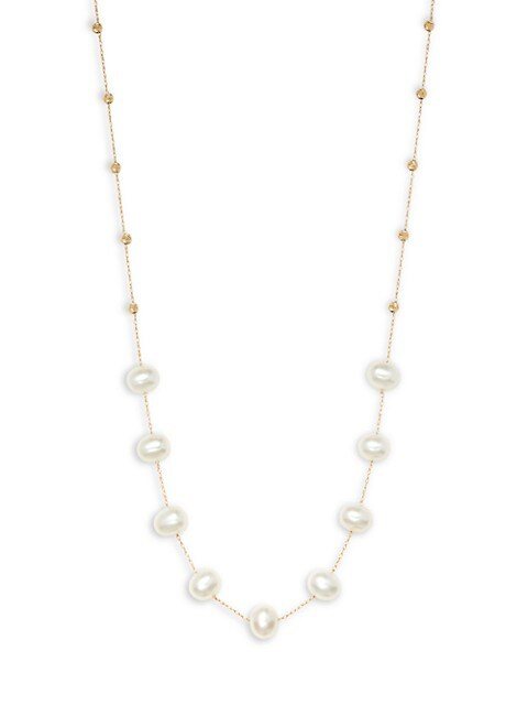 Effy 14K Yellow Gold & 7MM Freshwater Pearl Strand Necklace