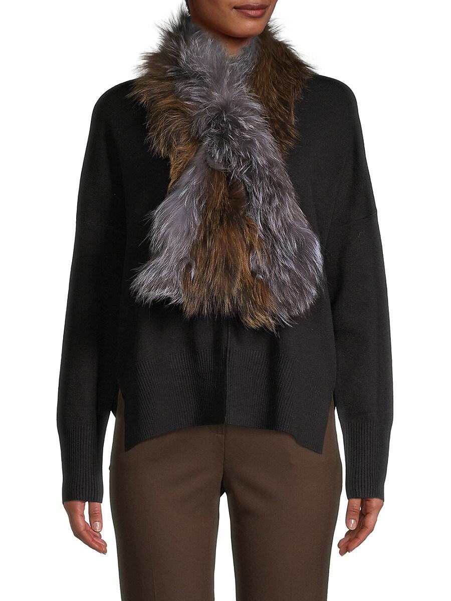 Women's Silver Fox Fur Scarf
