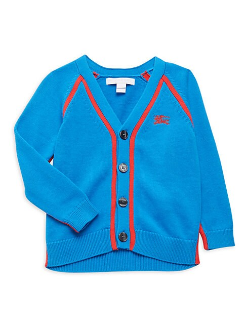 Burberry Kids' Little Boy's Button-front Cotton Cardigan In Regatta Blue