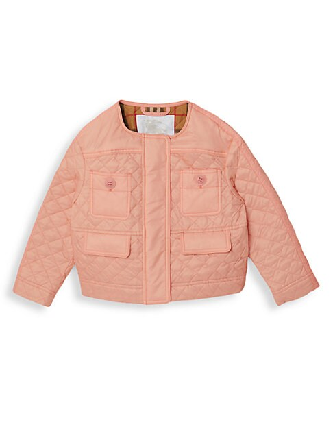 Burberry Kids' Little Girl's & Girl's Tolla Quilted Jacket In Salmon