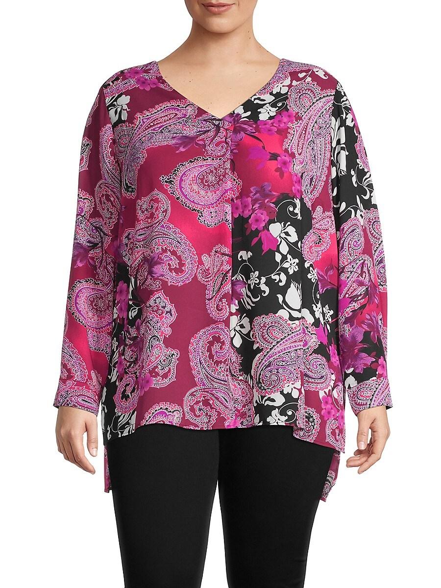 Women's Plus Floral & Paisley-Print Top