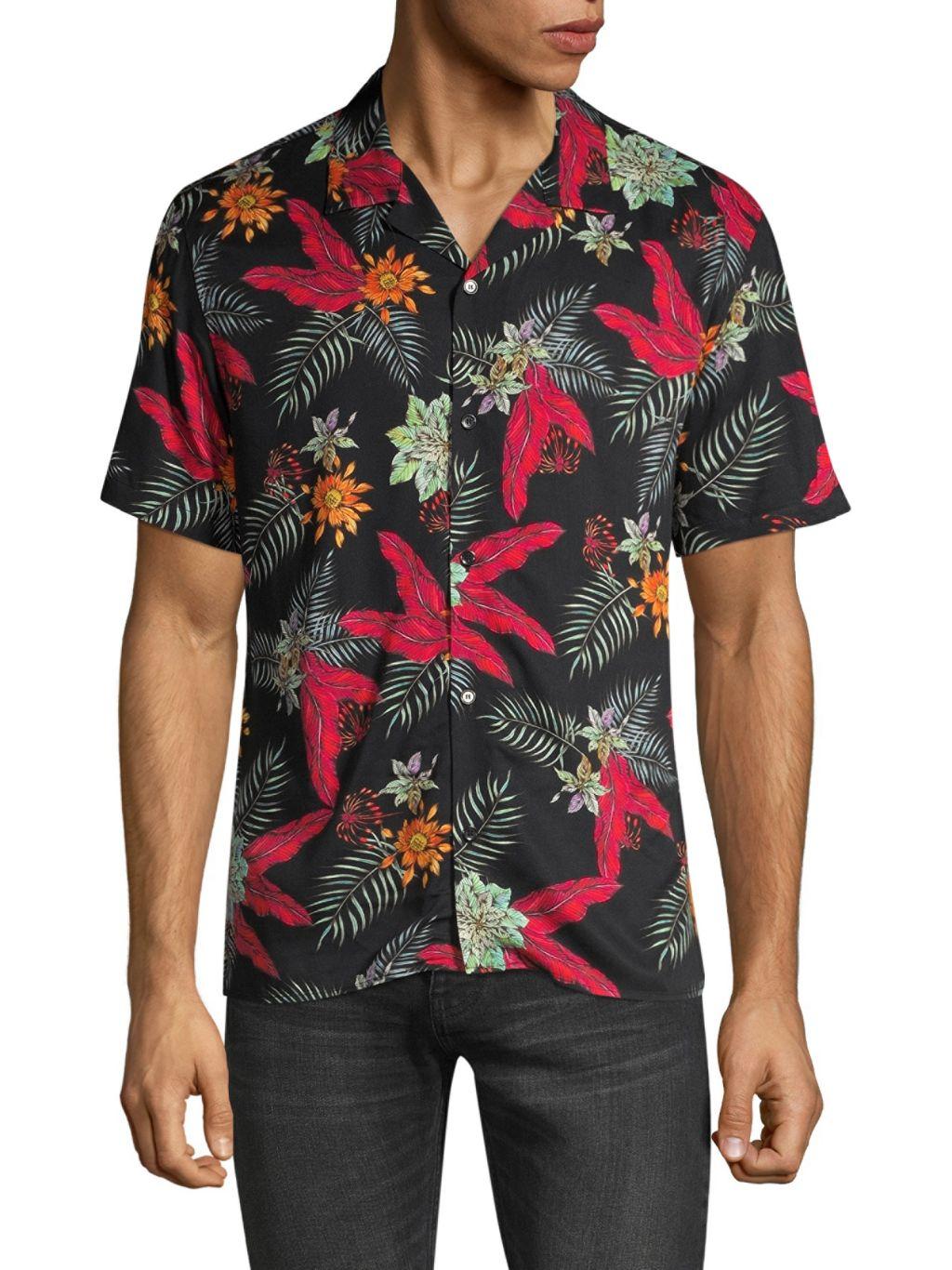 The Kooples Tropical-Print Shirt