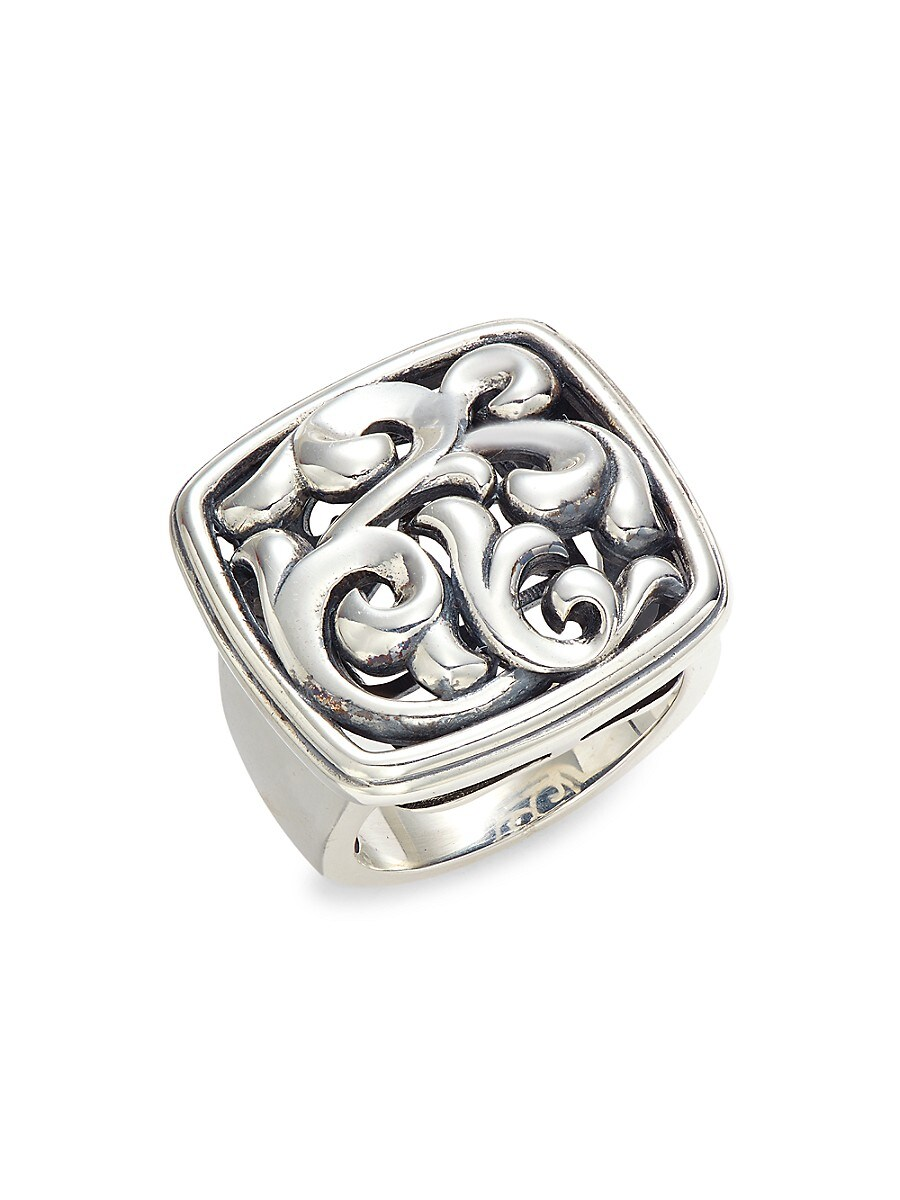 Women's Sterling Silver Cushion Ring/Size 6.5