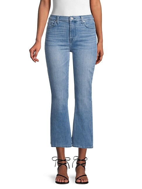 7 For All Mankind HIGH-RISE CROPPED SLIM KICK JEANS