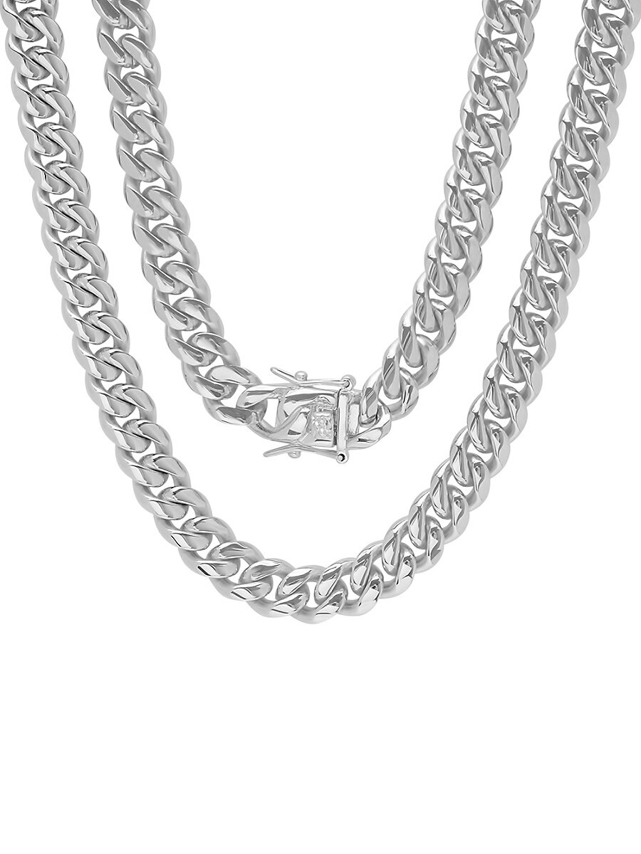 Men's Stainless Steel Miami Cuban-Link Necklace