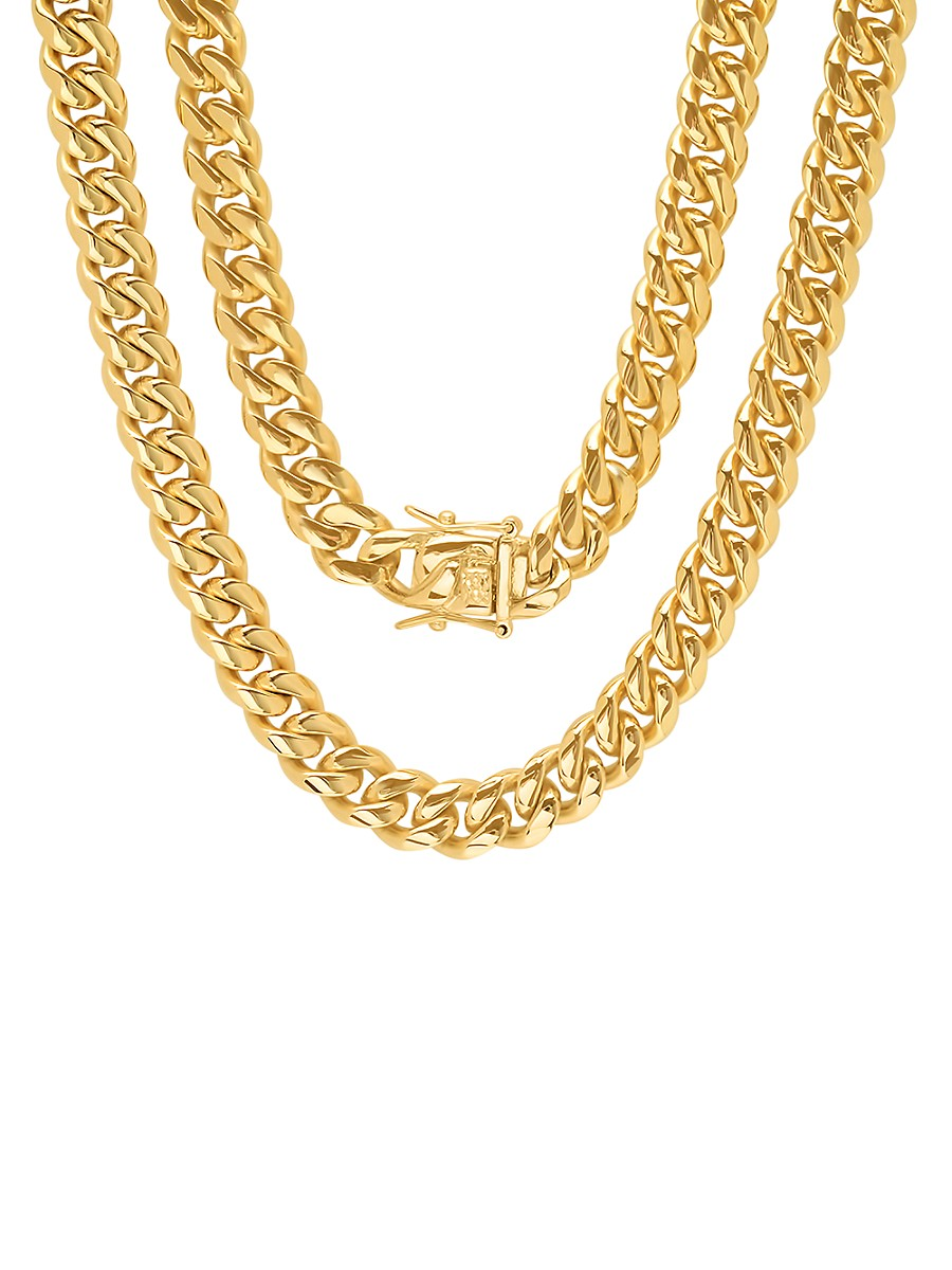 Men's 18K Gold Plated Stainless Steel Necklace