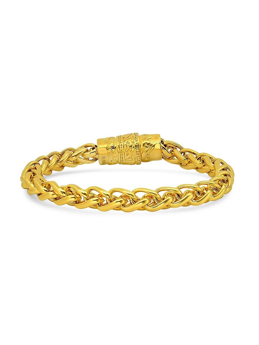 Men's 18K Goldplated Stainless Steel Magnetic Clasp Bracelet