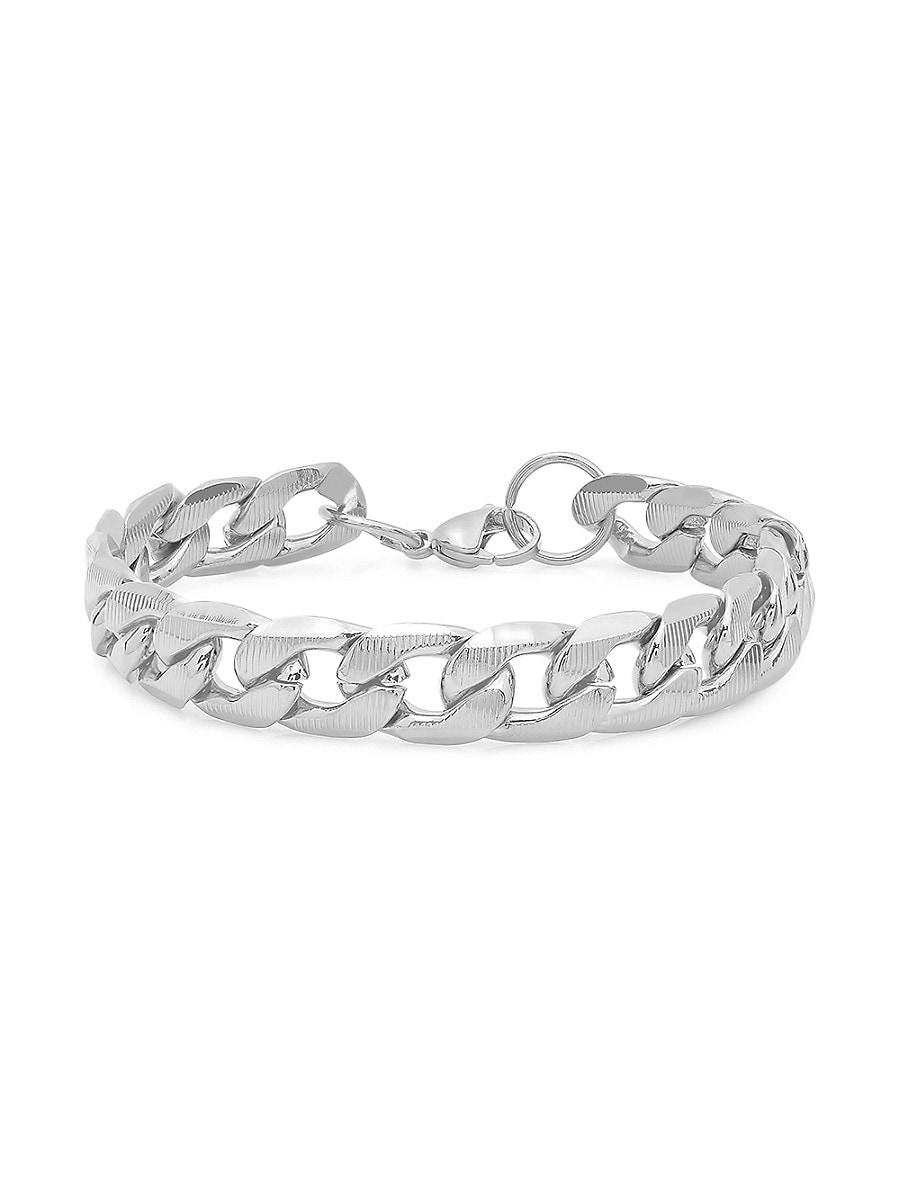 Men's Stainless Steel Diamond Cut Cuban Bracelet