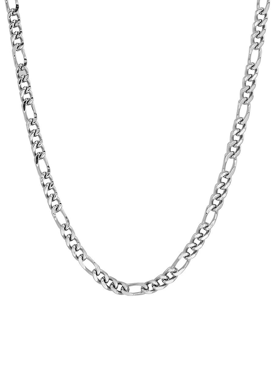 Men's Stainless Steel Figaro Chain